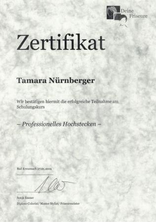 Zertifikat Professionelles Hochstecken