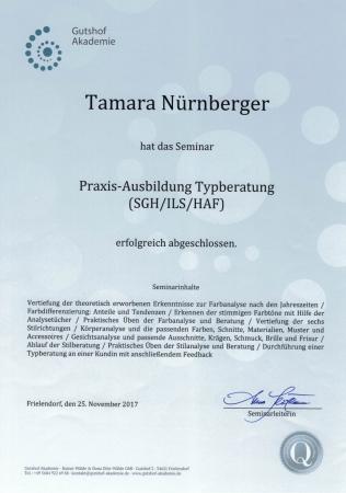 Zertifikat Typberatung